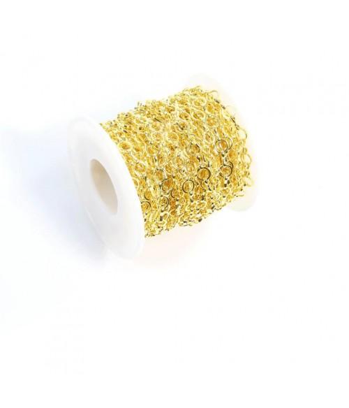 Chaine bijoux mailles moyennes 10 x 10 mm (1 mètre)