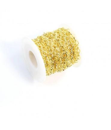 Chaine bijoux mailles 6 x 6 mm (1 mètre)