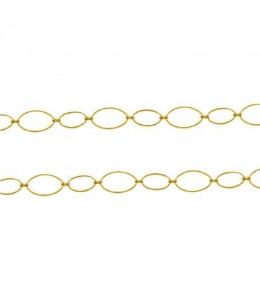 Chaine bijoux grandes mailles ovales 26 x 16 mm (1 mètre)