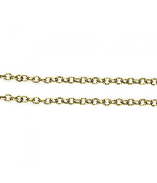 Chaine bijoux mailles jaseron 4 x 3 mm (1 mètre)