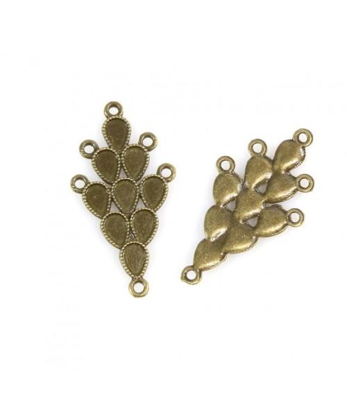 Support boucle d'oreille cabochon Kajang 38x20mm (2 pièces)