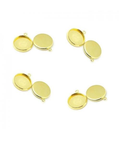 Support cabochon pendentif 19 x 16 mm (10 pièces)