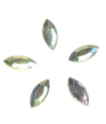 Strass bijoux acrylique Amande 15 x 7 mm (5 pièces)