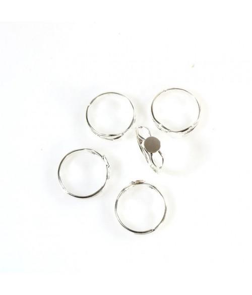 Support bague fimo anneau réglable Tamis 6 mm (5 pièces)