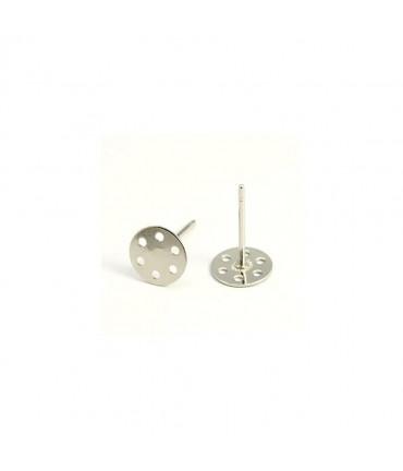 Clous d'oreilles support boucle fimo 12 x 7 mm (10 pièces) - Gris