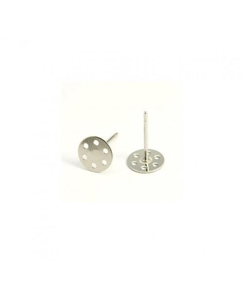 Clous d'oreilles support boucle fimo 12 x 7 mm (5 pièces)