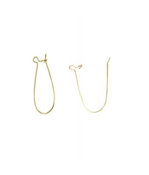 Attache boucles d'oreilles crochet 16 x 9 mm (10 pièces)