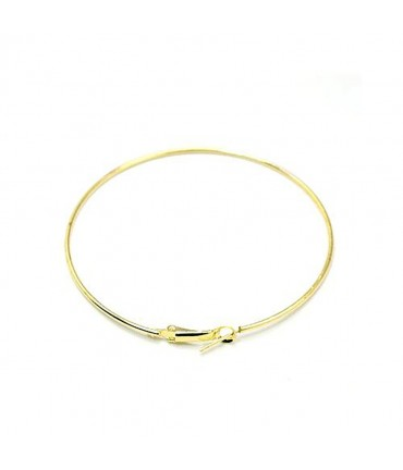 Boucle d'oreille créole support bijoux 49 mm (2 pièces) - Doré