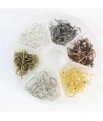 Kit crochets d'oreilles 6 couleurs 18 mm (120 pièces)