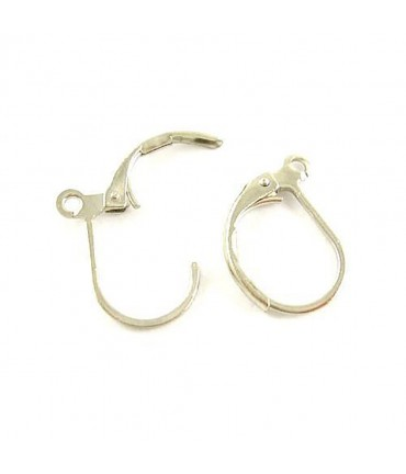 Support boucles d'oreilles dormeuses 15 x 10 mm (10 pièces) - Argenté