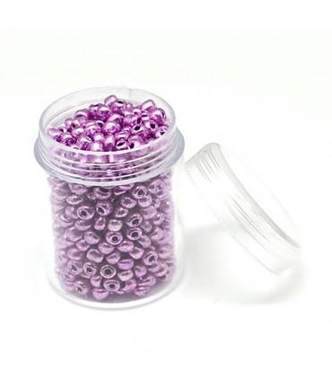 Perles de rocaille rondes Iris Round 2,5 mm (1600 pièces) - Lavande