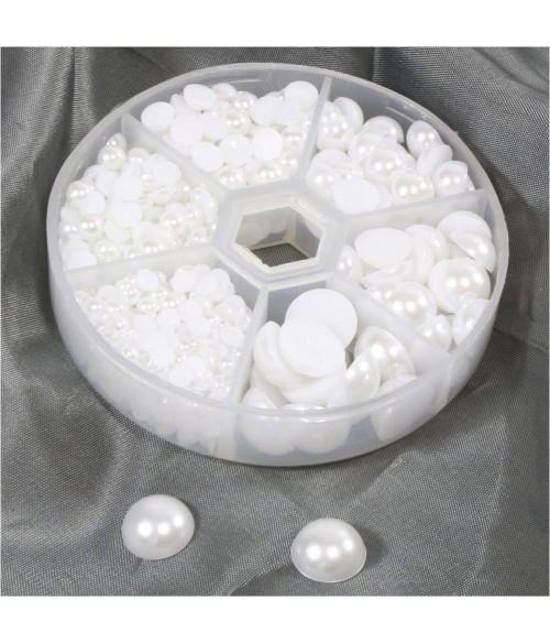 Kit cabochons acryliques 4 à 12 mm (650 pièces)