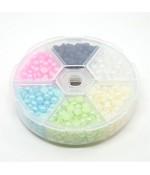 Kit cabochons perles nacrées pastels 5 x 2,5 mm (990 pièces)