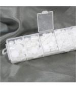 Kit cabochons perles crème plusieurs tailles (1000 pièces) - Blanc