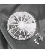 Kit strass cristal évasé plusieurs tailles (450 pièces)