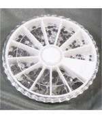 Kit strass cristal plat plusieurs tailles (450 pièces)