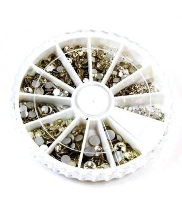 Kit strass cristal à coller plusieurs tailles (550 pièces)