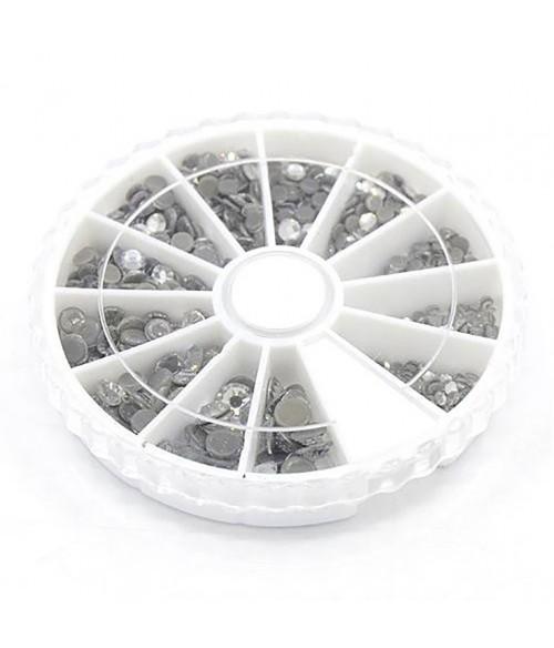 Kit strass cristal à coller plusieurs tailles (252 pièces)