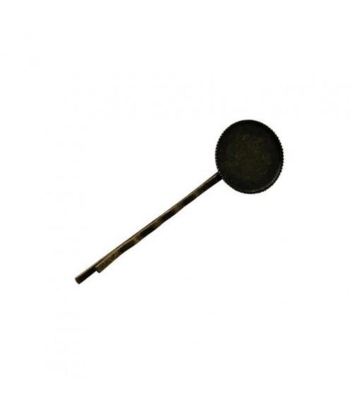 Épingle à cheveux support fimo 63 x 19 mm (5 pièces)