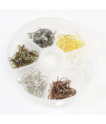 Kit crochets d'oreilles 6 couleurs 17 mm (120 pièces)
