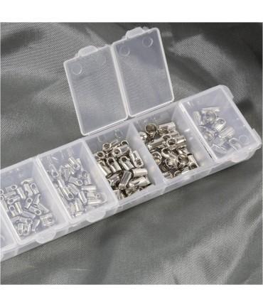 Kit embout cordon à coller plusieurs dimensions (180 pièces)