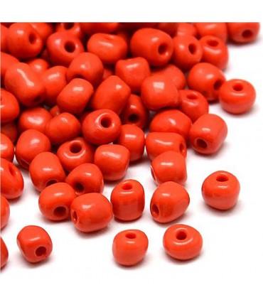 Perles de rocaille intercalaires 3,5 mm (550 pièces) - Rouge