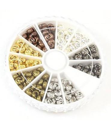 Boite de cache perles à écraser 5 mm (280 pièces)