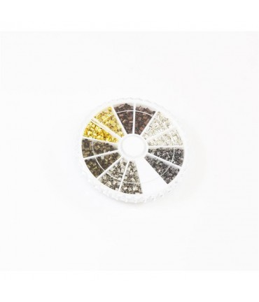 Boite de perles à écraser 6 couleurs 2 mm (1500 pièces)