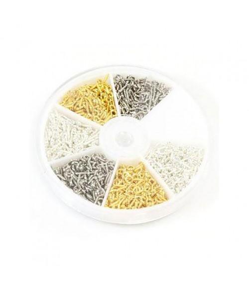 Boite de pitons à vis 10 x 4 mm (700 pièces)