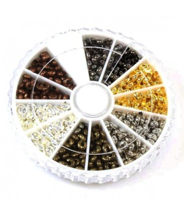 Boite de cache perles à écraser 3 mm (590 pièces)