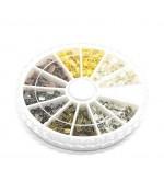 Kit embouts pour cordon et fil 6 x 3 mm (420 pièces) - Multicolore