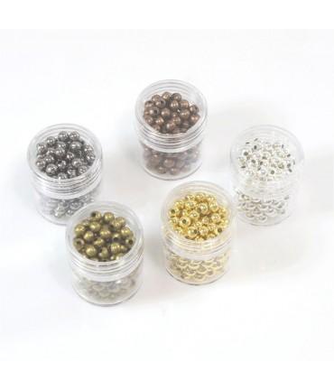 Perles intercalaires 3,2 mm kit plusieurs couleurs  (1350 pièces)