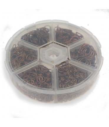 Kit anneaux de jonction fer dimensions variées (1530 pièces) - Cuivre