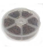 Kit anneaux de jonction fer dimensions variées (1530 pièces)