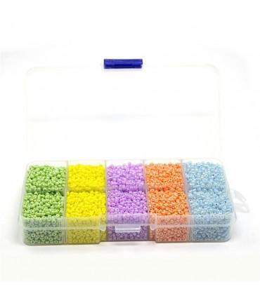 Boite de perles de rocaille couleurs 2 mm (12000 pièces)