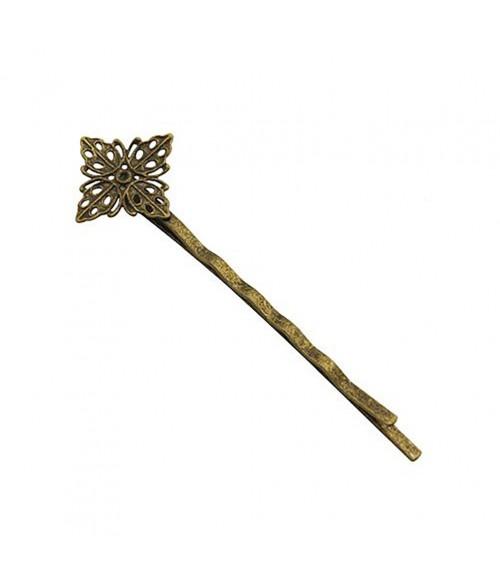 Epingle à cheveux Fleur de Vent 62 x 17 mm (5 pièces)
