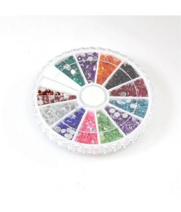 Kit de strass bijoux couleurs variées 3 mm (1400 pièces)