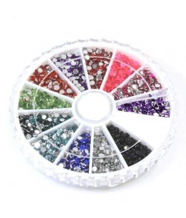 Kit de strass bijoux couleurs variées 2 mm (3840 pièces)