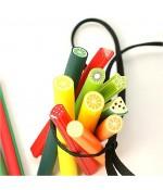 Canes fimo Fruits colorés pour ongles et bijoux (10 pièces)