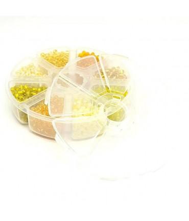Kit perles de rocaille Tons de Jaune 4 mm (1600 pièces)