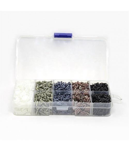 Kit perles de rocaille Bugle tubes 6 x 1,8 mm (4000 pièces)
