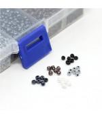 Kit de perles de rocaille 3 mm multicolore (5000 pièces) - Assortiment