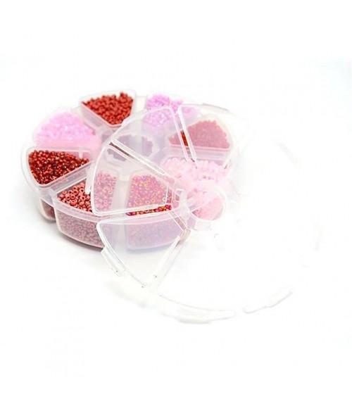 Kit perles de rocaille Tons de Rouge 2 mm (9000 pièces)