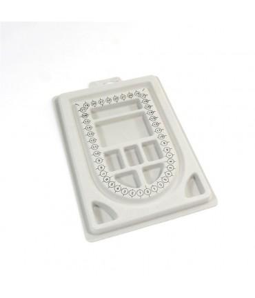 Boitier compteur de perles 9 compartiments en plastique - Gris