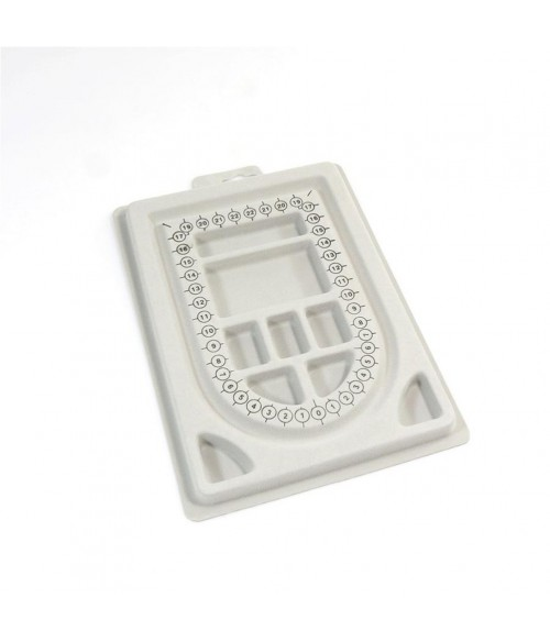 Boitier compteur de perles 9 compartiments en plastique