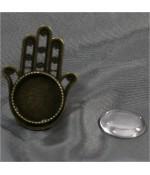 Kit support bague Fatma cabochon verre 41x29,5 mm (10 pièces)