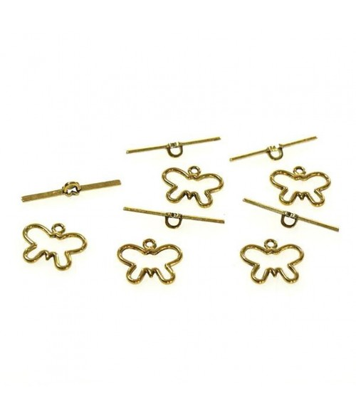 Fermoir t toggle Papillon en alliage 17 x 20 mm (10 pièces)