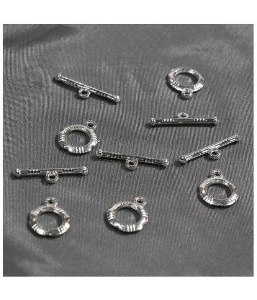 Fermoir t toggle Design pour bijoux 12 mm (10 pièces)