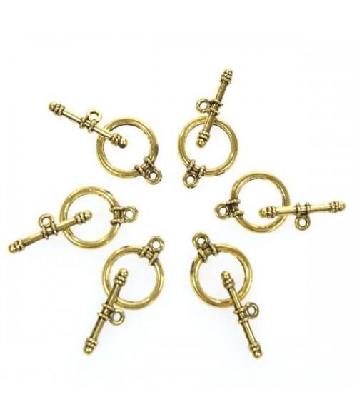 Fermoir t toggle Cordage pour bijoux 13 mm (10 pièces)