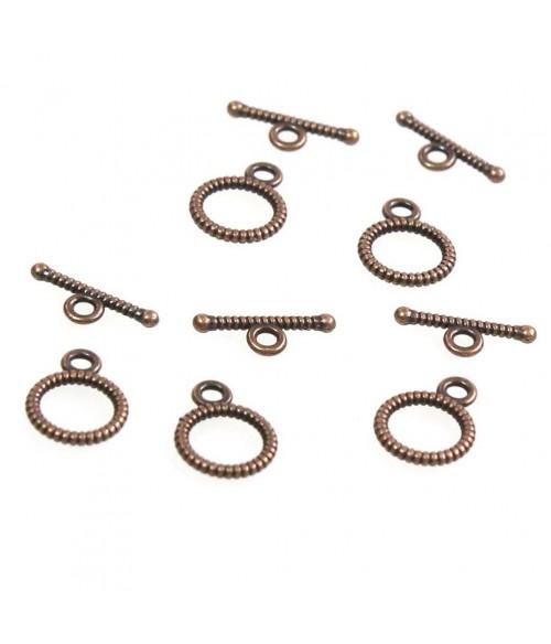 Fermoir t toggle strié pour bijoux 10,5 mm (10 pièces)